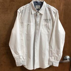 PD&C Men's Button Down Long Sleeve Shirt